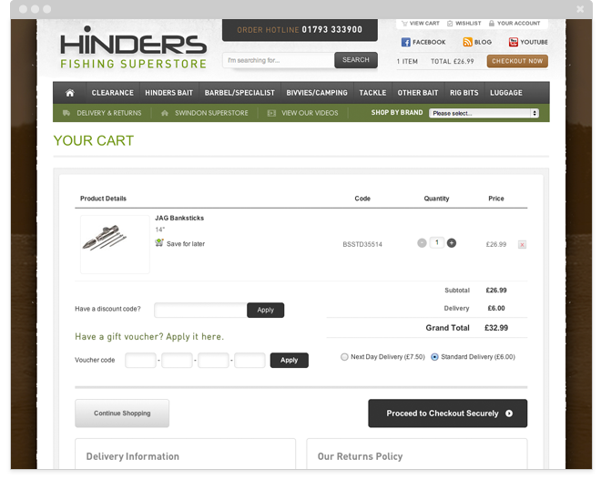 Hinders Secure Checkout Button