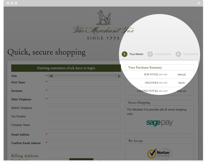 Merchant Fox eCommerce Checkout Steps