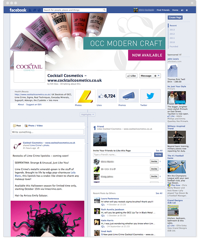 Facebook for eCommerce